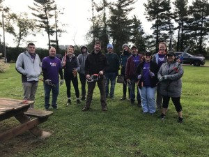 Volunteers from Fed Ex spruce up the grounds of the LTSR.
