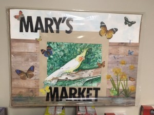mary market sign