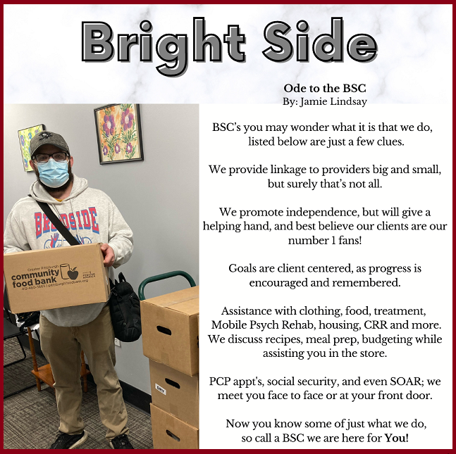 Bright Side. Ode to the Blended Service Coordinator