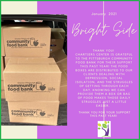 Bright Side - thank you to the Pittsburgh Community Food Bank